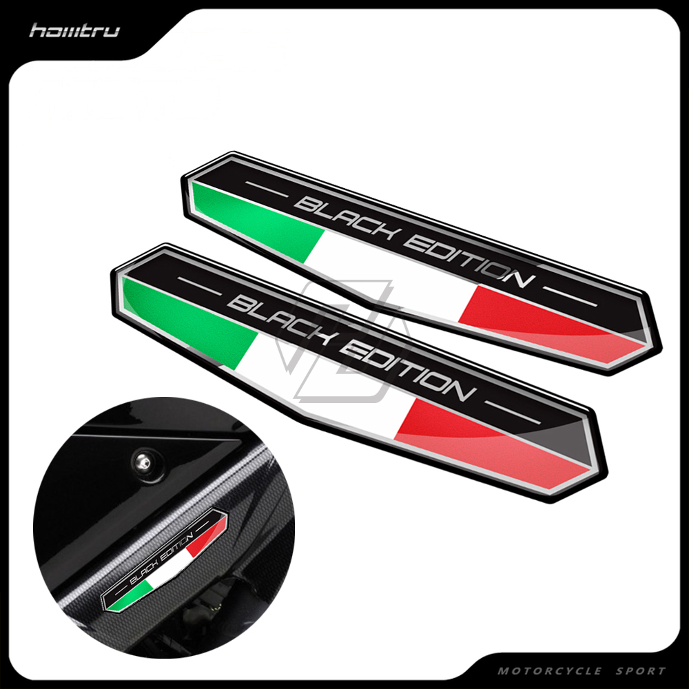 3D Motorbike Black Edition Decals for vespa scooter for ducati 821 796 795 monster 1199 1299 panigale