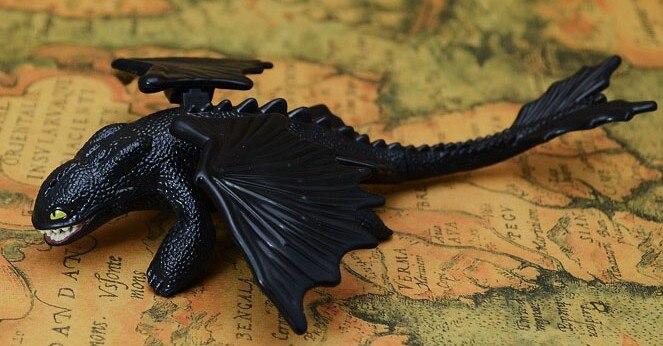 Toothless como treinar seu dragão noite fúria mortal nadder dragão figuras de ação pequeno presente de aniversário