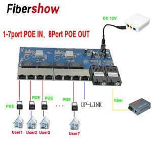 Gigabit Ethernet switch Reverse POE switch 8 RJ45 2 SC fiber media converter Fiber Optical UTP Port 10/100/1000M PCBA(China)