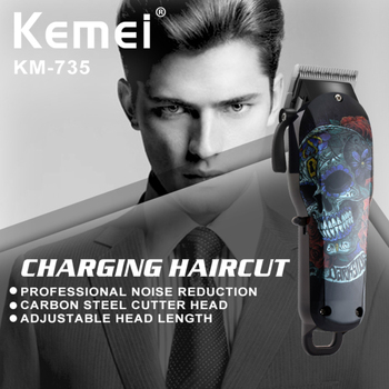 Kemei KM-735 Professional Electric Hair Trimmer Beard Shaver Rechargeable Hair Clipper Cordless Hair Cutting Machine For Barber kemei professional cordless hair clipper hair trimmer electric shaver clipper for men s beard hair razor cutting machine