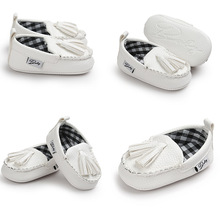 Baby Bean Shoes Non-slip Baby Toddler Shoe Casual Style PU Leather Baby First Walker Shoes Cute Slip-on Infant Shoes