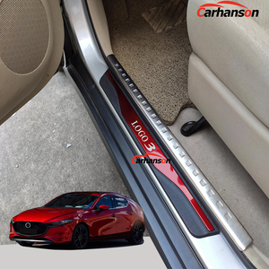 Threshold For 3 Car Accessories 2014 2015 2016 2017 2018 2019 2020 Pedal Door Sill Trim Auto Cover Protector Styling Sticker