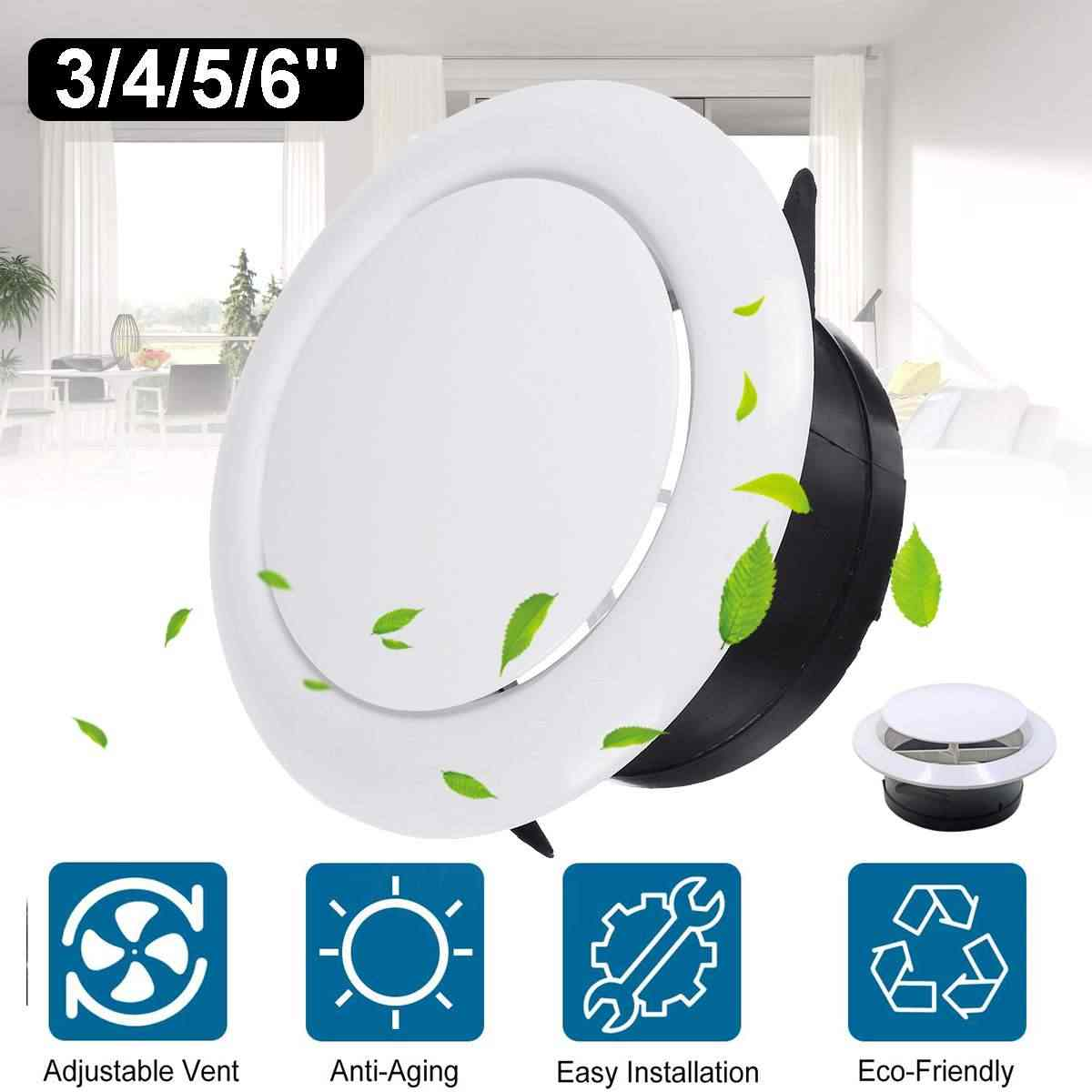 Adjustable Air Ventilation Cover Round Ducting Ceiling Wall Hole Abs Air Vent Grille Louver Kitchen Bath Air Outlet Fresh System Vents Aliexpress