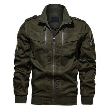2020 Autumn New Men's Cotton Jacket Mens Solid Color Loose Coat Male Fashion Military Outwear Large Size 6XL J6T708