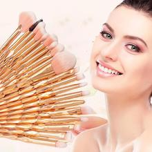 20PCS / Set Makeup Brush Set Diamond Crystal Rose Gold Eyeshadow Brush Foundatio