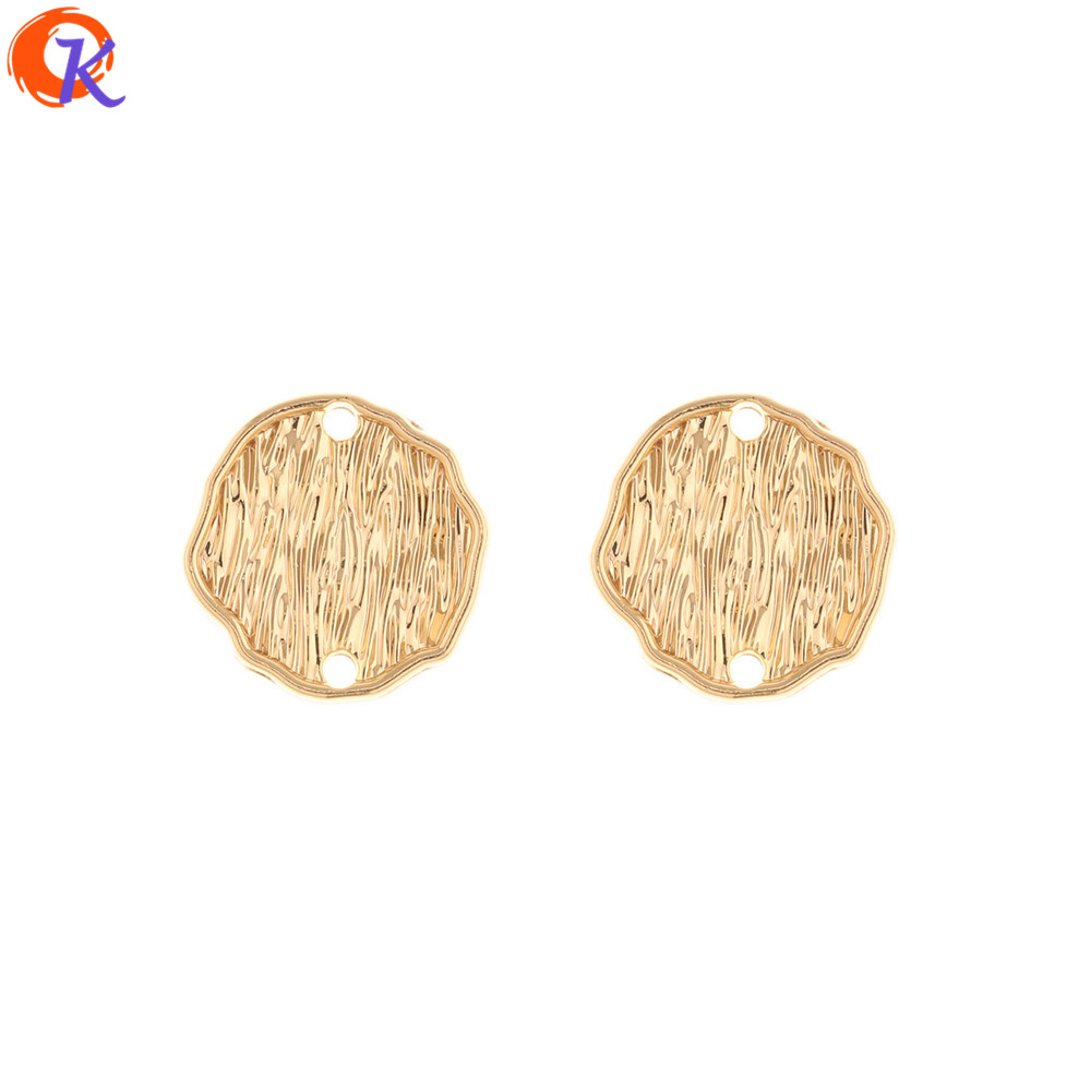 Cordial Design 100Pcs 20*20MM Jewelry Accessories/Hand Made/Earrings Connectors/Irregular Coin Shape/DIY Making/Earring Findings