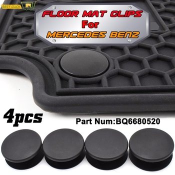 4pcs Car Floor Mat Clips Carpet Retainer Grips Holders Fixing Clamps Fastener For Mercedes Benz amg W205 W245 X164 W140 X156 image