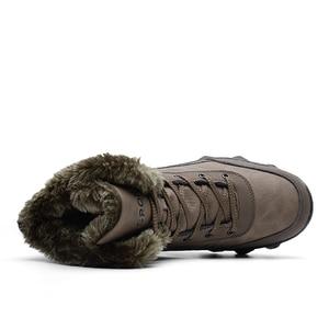 Image 3 - Áo Cổ Cao Hàng Đầu Plus Nhung Giữ Ấm Lớn Kích Thước Mắt Cá Chân Giày Chống Trơn Trượt Tuyết Giày Mùa Đông Nam Thể Thao cao Su Giày