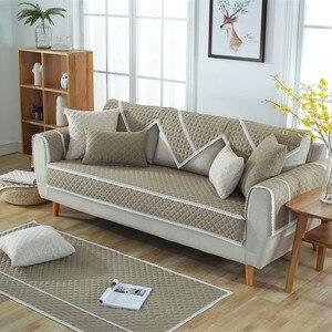 Image 4 - Funda de algodón suave para sofá, toalla para sala de estar, cubierta de banco bajo, funda para sofá cama, fundas de sofá de Navidad