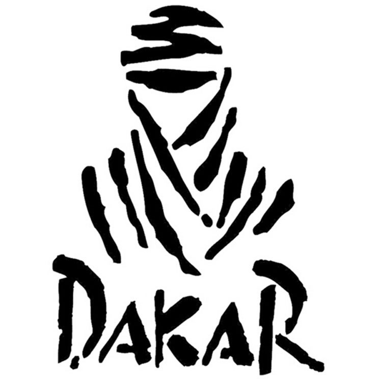DAKAR 9.5x13cm Reflective Car Stickers Car Stickers Pull Floats