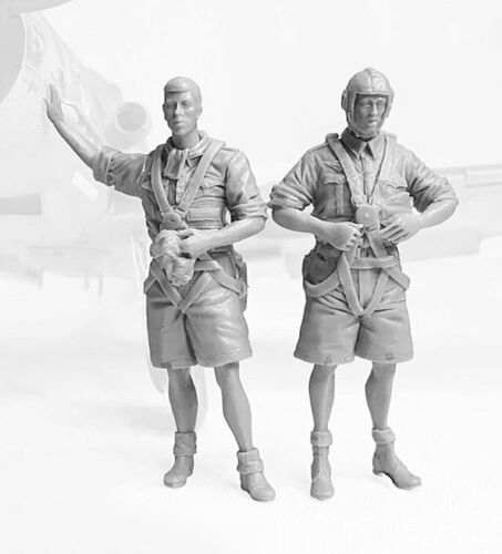1/32 Ancient Fighter Pilots Include 2   Resin Figure Model Kits Miniature Gk Unassembly Unpainted