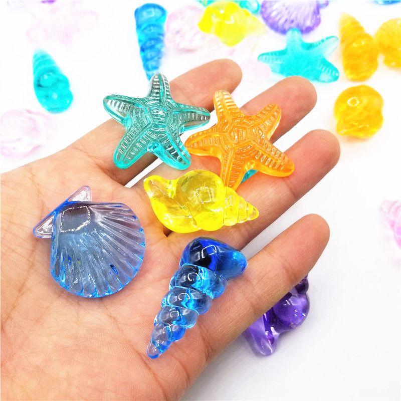 Animal Car Fruit Acrylic Beads Classroom Reward Party Bag Filler Kids Room Fish Tank Decoration (500g/Bag)