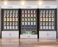 Mobile phone accessories display rack cabinet floor cosmetics accessories supermarket snack underwear bra shelf hook