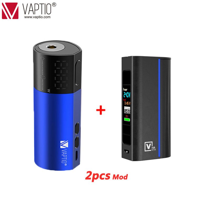{SUB Ohm Tank Gift} Vape Mod Electronic Cigarette Vaptio VEX 100 Box Mod Vaper 510 Thread Powered 21700/20700/18650 No Battery