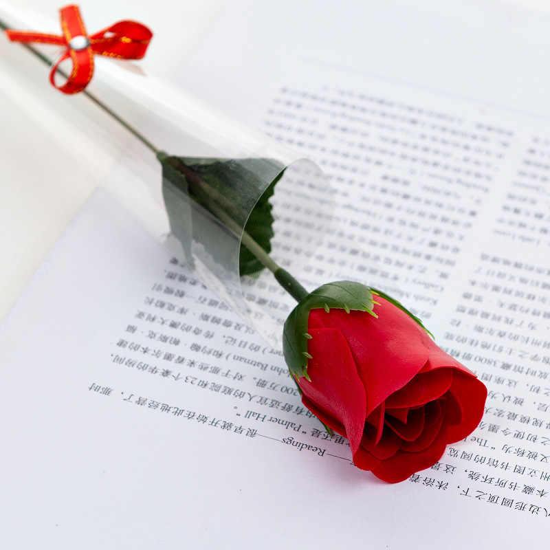10 Pcs Sabun Bunga Buatan Mawar Valentine Hari Hadiah Ulang Tahun Bunga Set Bunga Kelopak Mawar Pesta Pernikahan Decoor