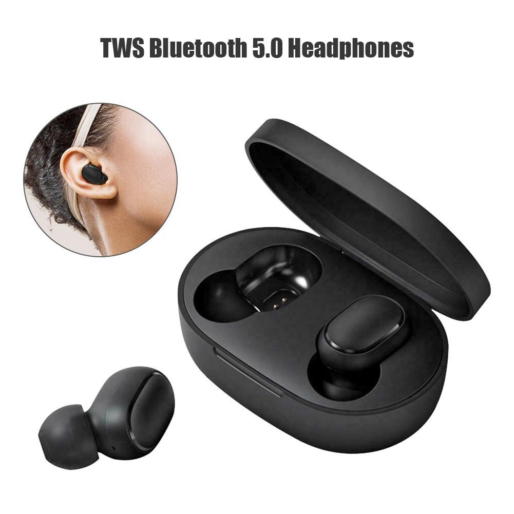 Mini auriculares Bluetooth inalámbrico verdadero TWS auriculares deportivos resistentes al agua inteligente reducción de ruido con caja de carga
