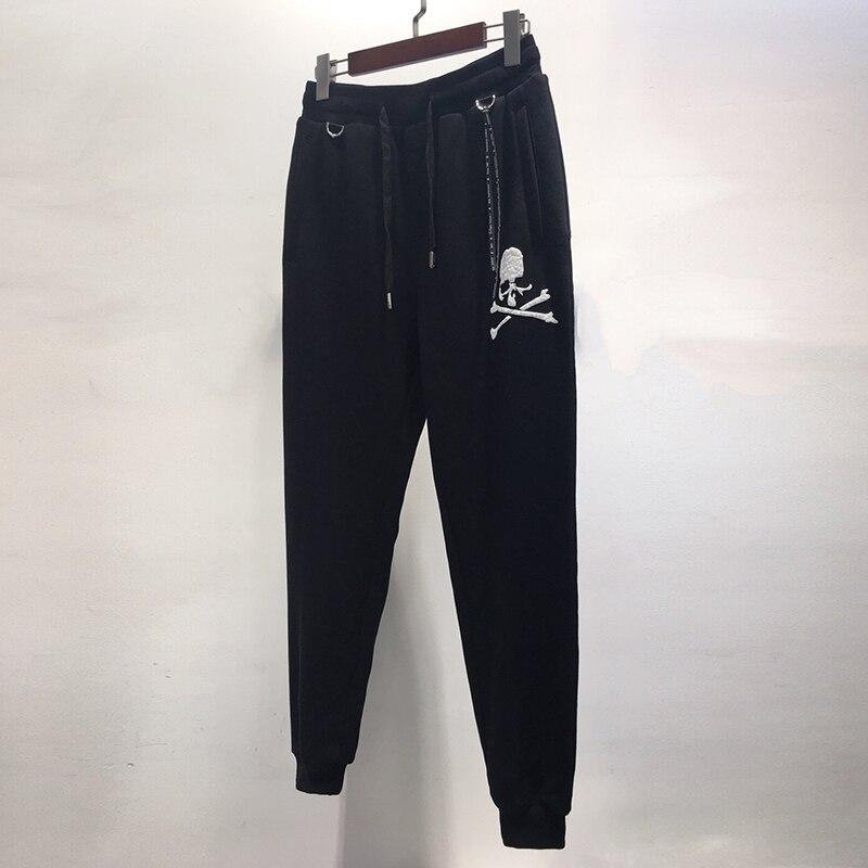 2019 Mastermind Japan 20th Anniversary Sweatpants Men Women Joggers Skulls Embossment Print Casual Pants MMJ Joggers Sweatpants
