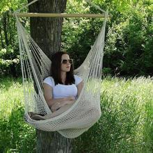 Удобное подвесное кресло, большой хлопковый Веревочный Гамак, практичное модное кресло для использования в помещении и на открытом воздухе, необходимые гаджеты для двора