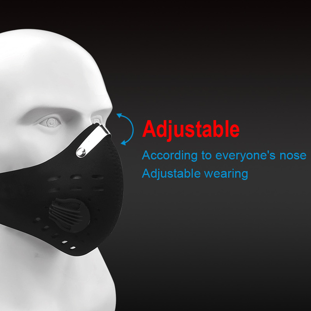 X-TIGER Facemask PM 2.5 Anti-Pollution Bike Face Mask Activated Carbon Breathing Valve Cycling Mask With Filter 3