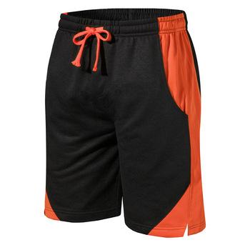 Letnie męskie wygodne szorty jednokolorowe luźny krój spodenki męskie kolano długość męskie spodenki tanie i dobre opinie Na co dzień Poliester Rayon Sznurek Stałe REGULAR Luźne Kieszenie Solid Color Yellow Gray Blue Orange Casual Pants