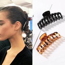Pinces à cheveux en plastique pour femmes et filles, grandes formes géométriques, pinces à griffes, épingles à cheveux, accessoires de coiffure