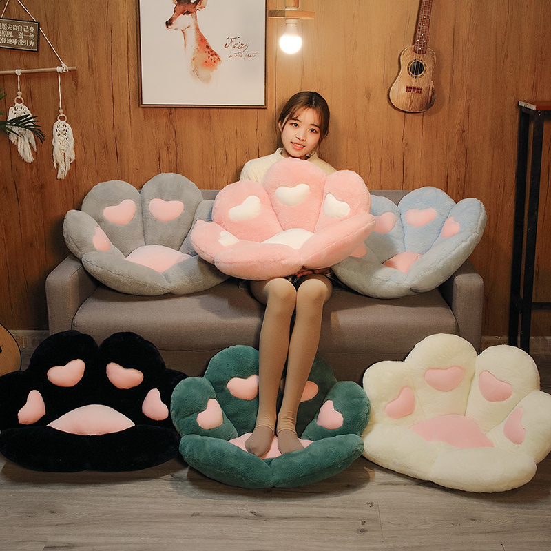 Cat Paw Seat Cushion Squishy Giant Stuffed Animals Plush Soft Sofa Indoor Home Chair Decor Pillow Gift For Girls Children Just6F