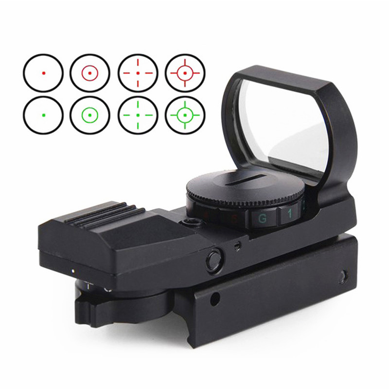 Outdoor hunting tactics optical sight metal hd inner red dot sight cross red dot reflection 20mm 11mm track mounting
