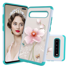 Lovely Animal Painted Phone Case for Samsung Galaxy S10 Plus S10e S9 S7 Cover For A520 J3 Hard PC Soft TPU Funda Coque Gifts