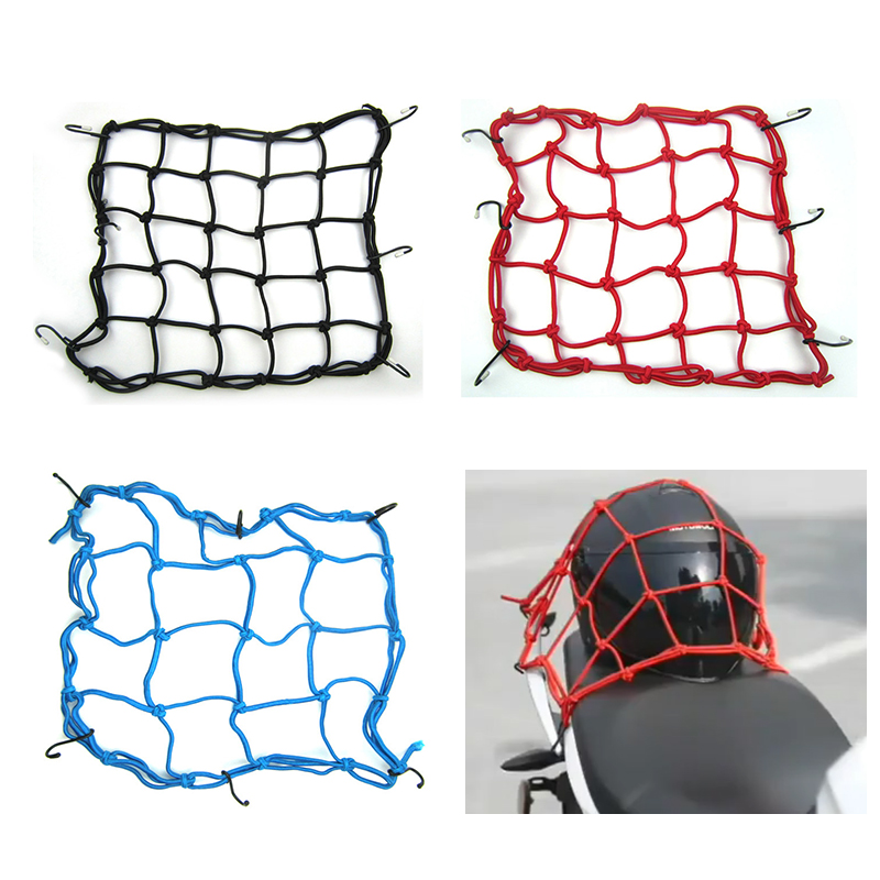 Motorcycle Helmet Luggage Cargo Net With Hook For <font><b>honda</b></font> pcx 125 nc 750x shadow vt1100 vtx 1300 vfr 750 <font><b>cbr</b></font> <font><b>600f</b></font> shadow 600 image
