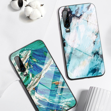 Fashion Painting Cases for Huawei P30 P20 Lite For Mate 20 P Smart Z Nova 3 Honor 9 10 8X Tempered Glass
