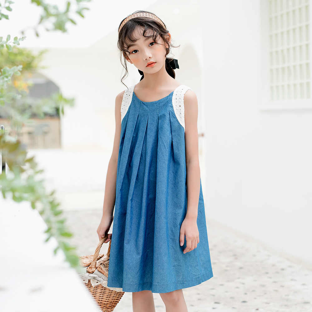2020 Jeans Kids Dresses For Girls Party Baby Teenager Girls Summer Dress 10 12 8 14 16 Years Children Mother And Daughter Dress