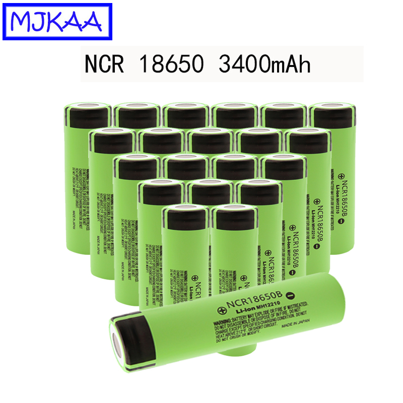 10/20PCS High Quality <font><b>NCR18650B</b></font> 3.7V 3400mah Rechargeable Lithium Battery For Flashlight Li-ion 3400 Mah Batteries image