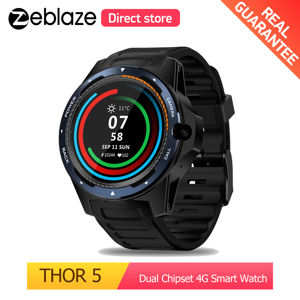 Zeblaze トール 5 デュアルチップセット 4 グラムスマート腕時計 LTE グローバルバンド 8MP フロントカメラ 2 グラム + 16 グラム ROM WIFI GPS 1.39