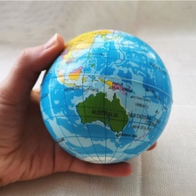 Toys Globe Earth-Squeeze-Balls Pu-Ball 10cm Kids Children Planet Foam for World-Map