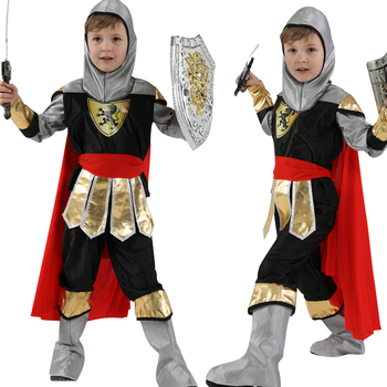 Halloween Party children Royal Warrior Knight Costumes Boys Soldier Children Medieval Roman Cosplay Carnival Fancy Dress up - discount item  28% OFF Costumes & Accessories