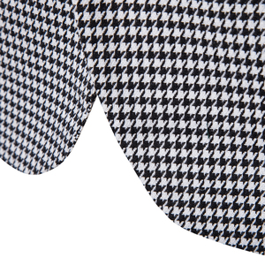 Image 5 - Shenrun Men Fashion Houndstooth Jacket Casual Blazer Notch Lapel Single Breasted 2 Buttons Suit Jackets Business Party Blazers