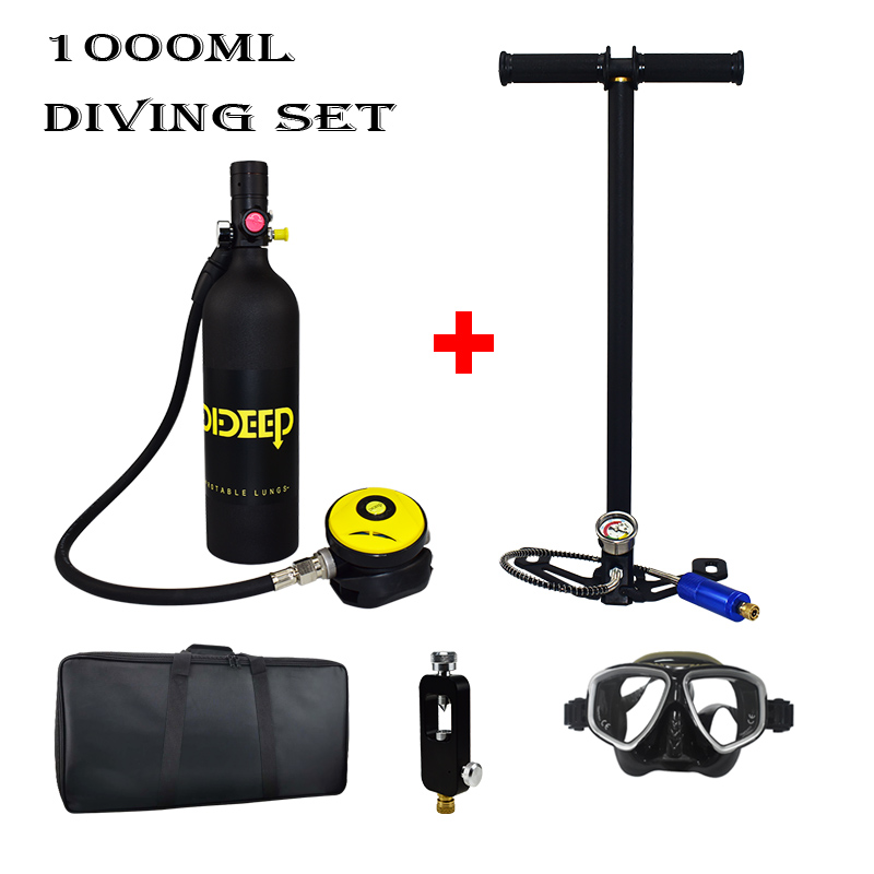 1000ml Mini Diving Equipment Diving Oxygen Tank Diving Small Gas Cylinder Snorkeling Oxygen Cylinder