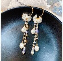 New Arrival Fashion Metal Trendy Water Drop Women Dangle Earrings Simple Korean Jewelry Female Long Pendant Eardrop цены