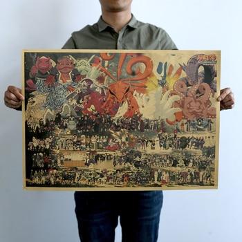Colección clásica de Anime Naruto todos los personajes póster para decoración de...