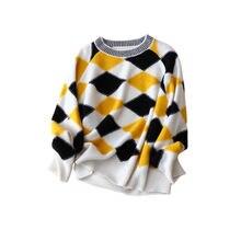 Новинка женский осенне зимний кашемировый свитер 100% с круглым