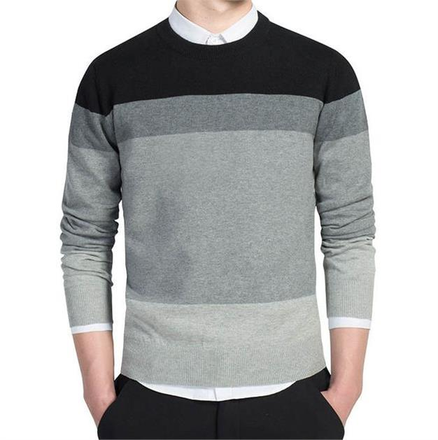OLOEY Brand 2019 Men's Casual Sweater Dress Suit Pullove Solid Color Slim Fit Male Cheap Formal Design Big Size 3xl