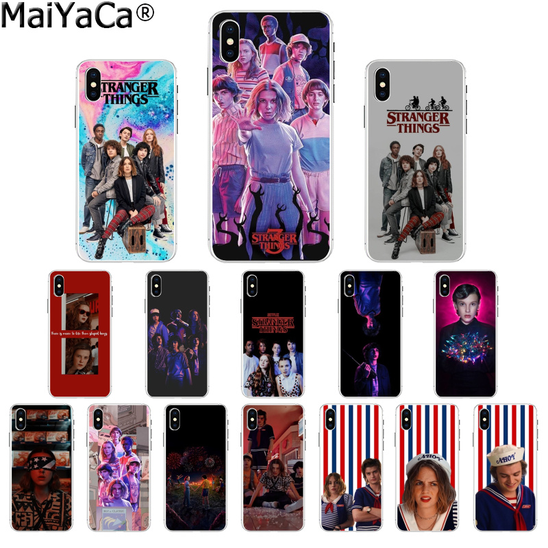 MaiYaCa <font><b>Stranger</b></font> <font><b>Things</b></font> Season 3 TPU Soft Silicone <font><b>Phone</b></font> <font><b>Case</b></font> Cover for Apple <font><b>iPhone</b></font> 8 7 6 6S Plus X XS MAX 5 5S SE <font><b>XR</b></font> Cover image
