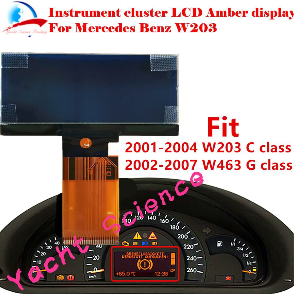 MERCEDES-BENZ CLASS A LCD VDO DISPLAY for INSTRUMENT CLUSTER DASH 1pcs