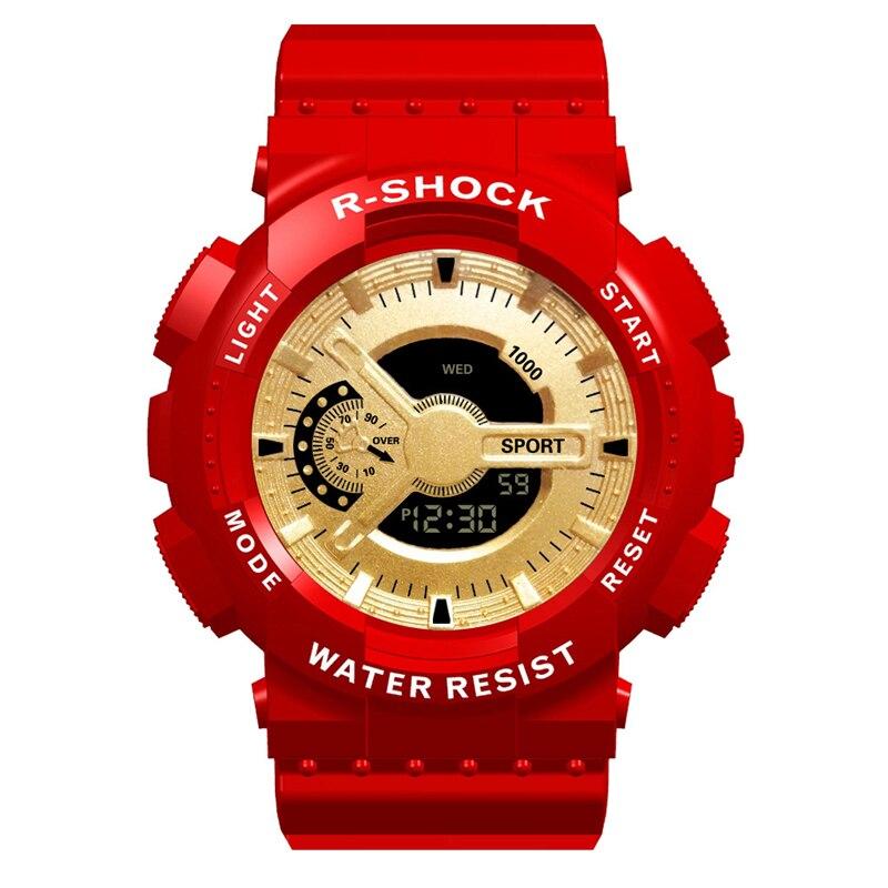 Sports Men's Watch Big Size Military Alarm Clock Luxury Brand Male Wrist Watches Led Digital Man Hour Outdoor Sport Black Gold G