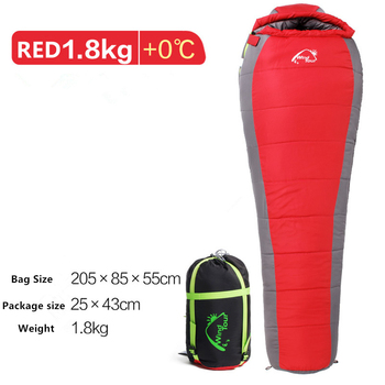 Mummy Sleeping Bag  Cotton Ultralight Outdoor Hiking Climbing Sleeping Bag Splicing Thickened Thermal Heated Sleep Bag in Winter 2