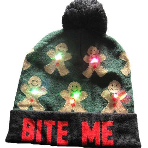 Г., 43 дизайна, светодиодный Рождественский головной убор, Шапка-бини, Рождественский Санта-светильник, вязаная шапка для детей и взрослых, для рождественской вечеринки - Цвет: 21