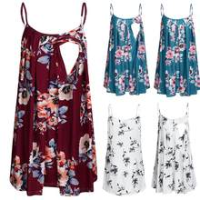 Maternity Dresses Pregnancy Dress Maternity Clothes Pregnant Dress Casual Floral Sleeveless Skirt Comfortable Sundress for Moms(China)