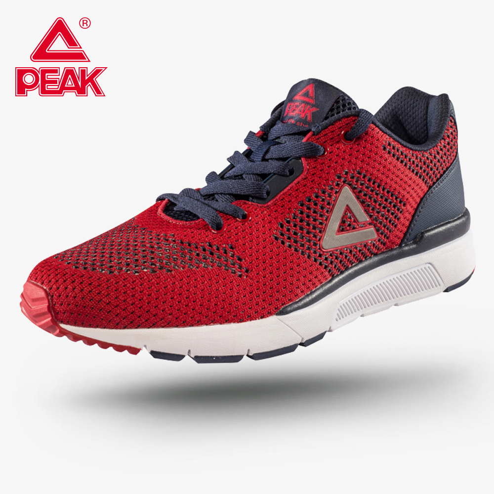 PEAK Men's Running Shoes Wearable Cushion Culture Sports Breathable Comfort Fitness Sports Shoes Soft Sole Sneaker E72537E