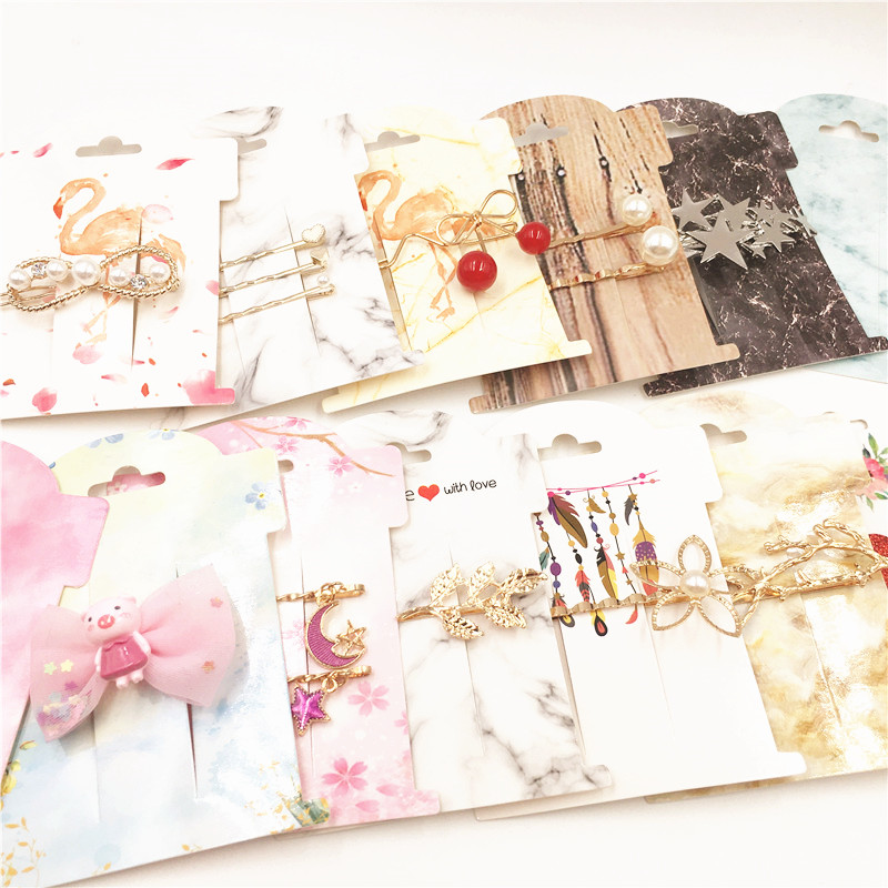 10pcs 11x8cm New Various Styles Hairpin/Brooch Display Card DIY Jewelry Card Accepts Customization