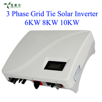 6KW 8KW 10KW MPPT Grid Tie Solar Power Inverter Waterproof IP65, DC switch Default, RS485 communication
